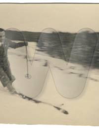 Personenfoto von Wilhelm Heim, Skifahren am Kniebis (1933)