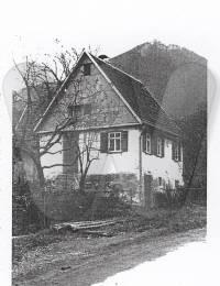 Elternhaus von Wilhelm Heim, Frontansicht (1933, Verschollen)